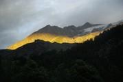 <strong>zon licht op de gletscher</strong>